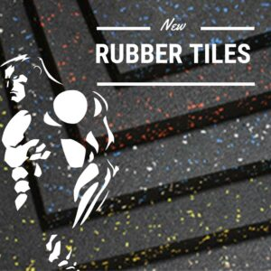 Rubber weight training tiles