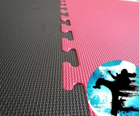 20mm red black karate mats